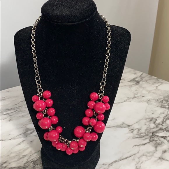 3/$17  paparazzi pink bead short chunky necklace